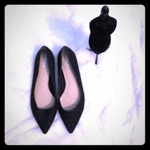 Liz&co flat Sparkle Black Shoes
